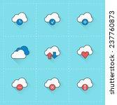 cloud computing icons. vector...