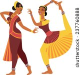 two girls wearing traditional... | Shutterstock .eps vector #237760888