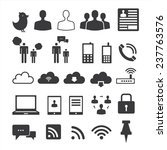 internet icons set | Shutterstock .eps vector #237763576