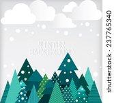 winter landscape. vector... | Shutterstock .eps vector #237765340