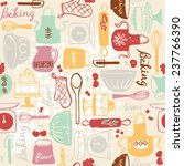 baking kitchen icons seamless... | Shutterstock .eps vector #237766390