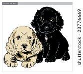 vintage 1950s cute puppies ...   Shutterstock .eps vector #23776669