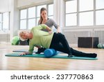 female instructor helping... | Shutterstock . vector #237770863