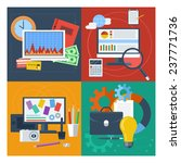 concept set for financial... | Shutterstock . vector #237771736
