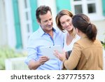 couple meeting real estate... | Shutterstock . vector #237775573
