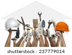 hand and home working tool... | Shutterstock . vector #237779014