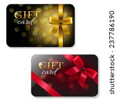 color gift card set with... | Shutterstock .eps vector #237786190