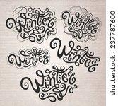 winter hand lettering  ... | Shutterstock .eps vector #237787600