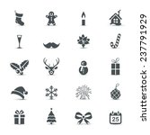 holiday icons set  christmas...   Shutterstock .eps vector #237791929