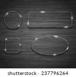 metallic banners on brushed...   Shutterstock . vector #237796264