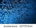 programming code abstract... | Shutterstock . vector #237797614