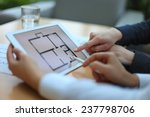 real estate agent showing house ... | Shutterstock . vector #237798706