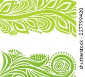 nature pattern background with... | Shutterstock .eps vector #237799420