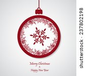 vector red christmas background ... | Shutterstock .eps vector #237802198