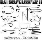 hand drawn arrows set | Shutterstock . vector #237805300
