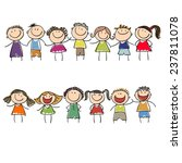 children drawn colored markers | Shutterstock .eps vector #237811078
