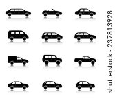 car icons set. twelve different ... | Shutterstock .eps vector #237813928