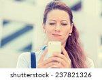 closeup side profile portrait... | Shutterstock . vector #237821326