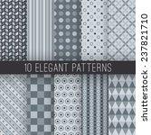 10 grey elegant seamless... | Shutterstock .eps vector #237821710