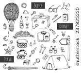 travel icons set. hand drawn... | Shutterstock .eps vector #237825220
