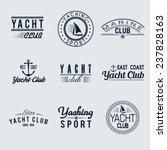 set of nine vintage yacht club... | Shutterstock .eps vector #237828163