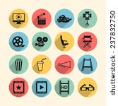 cinema icons   Shutterstock .eps vector #237832750