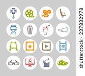 cinema and video icon set | Shutterstock .eps vector #237832978