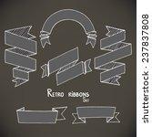 set of hand drawn vintage... | Shutterstock .eps vector #237837808