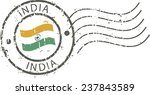 postal grunge stamp 'india'   Shutterstock .eps vector #237843589