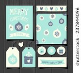a set of christmas gift tags ... | Shutterstock .eps vector #237844096