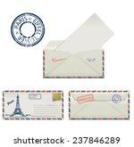 set of envelopes from paris... | Shutterstock .eps vector #237846289