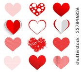 vector hearts set | Shutterstock .eps vector #237846826