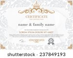 Gold Certificate Template With...