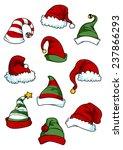 clown  joker and santa claus... | Shutterstock .eps vector #237866293