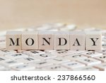 monday word background on wood... | Shutterstock . vector #237866560