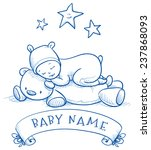 Baby Shower. Cute Baby Sleeping ...