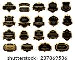 gold and black vintage labels... | Shutterstock .eps vector #237869536