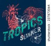 tropics  vector grunge floral...   Shutterstock .eps vector #237873064