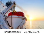 View Of A Lifeboat On A Cruise...