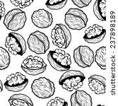 walnut  seamless vector pattern ... | Shutterstock .eps vector #237898189