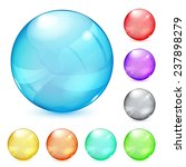 set of opaque glass spheres in... | Shutterstock . vector #237898279