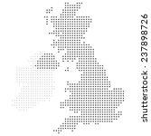 uk dotted map vector | Shutterstock .eps vector #237898726