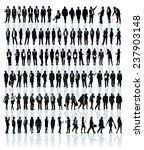 large set of people silhouettes.... | Shutterstock .eps vector #237903148