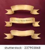 vintage paper ribbon banner ... | Shutterstock .eps vector #237903868