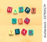 words happy new year with... | Shutterstock .eps vector #237905179