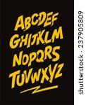 graffiti comics style font.... | Shutterstock .eps vector #237905809