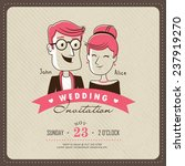 wedding invitation card template | Shutterstock .eps vector #237919270
