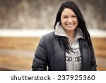 portrait of a mature woman... | Shutterstock . vector #237925360