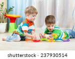 Children  Playing Rail Road To...