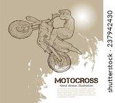 motocross. vector illustrations | Shutterstock .eps vector #237942430